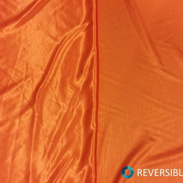 Shantung Satin Table Runner in Orange