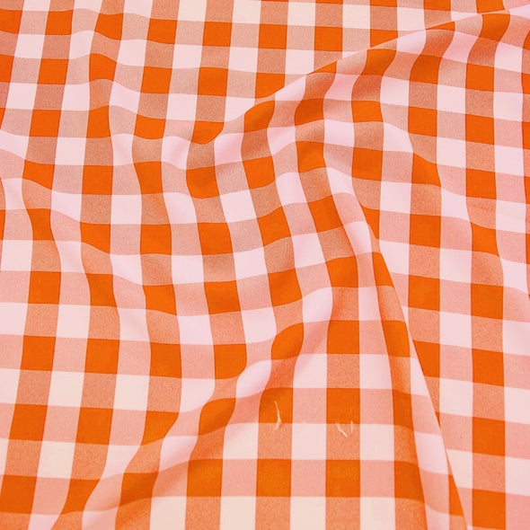 Polyester Checker (Gingham) Table Runner in Orange