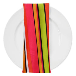 Multi-Color Stripe Table Napkin in Sombrero