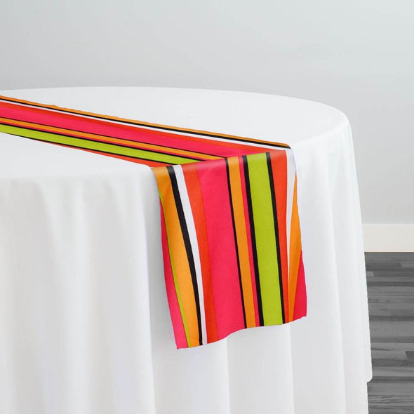 Multi-Color Stripe Table Runner in Sombrero