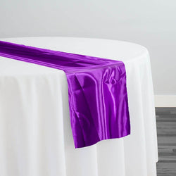 Bridal Satin Table Runner in Orchid 554