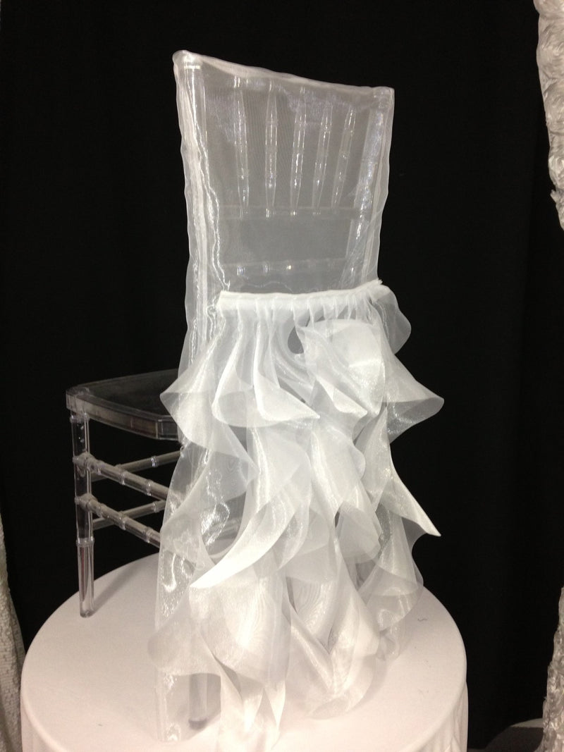 Crystal Organza Chair Back Tutu
