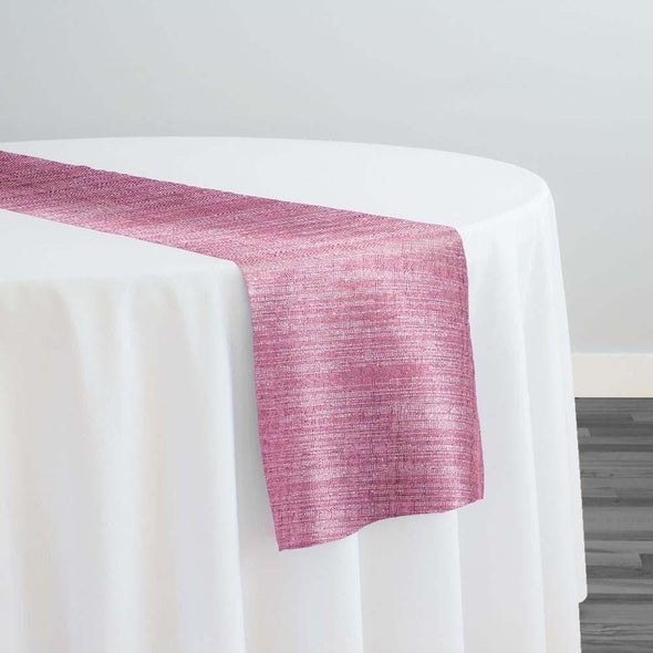 Metallic Burlap (100% Polyester) Table Runner in Orchid