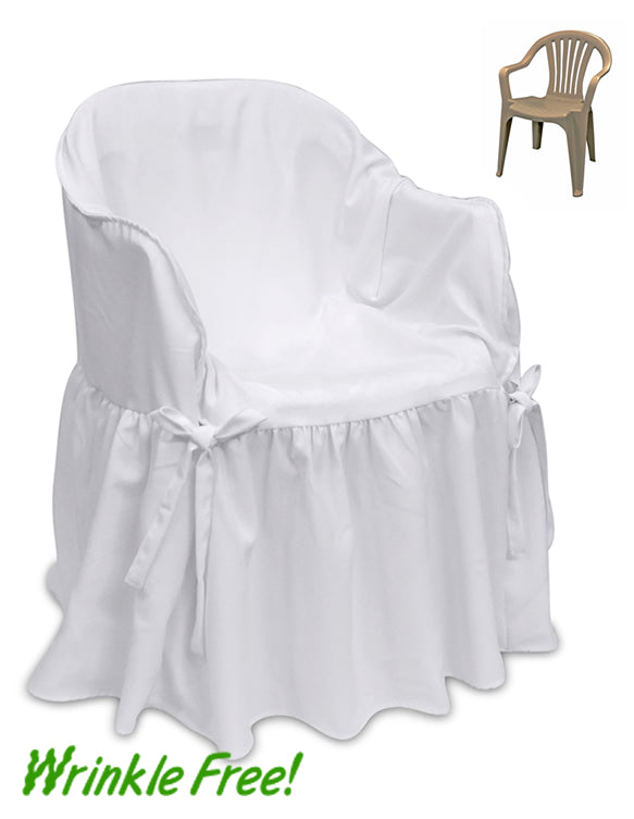 Premium Scuba (Wrinkle-Free) Outside Patio Chair Cover