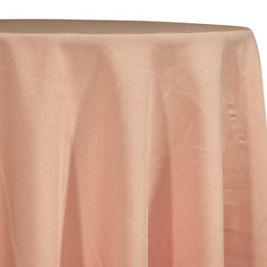 Peach Tablecloth in Polyester for Weddings