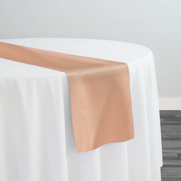 Premium Polyester (Poplin) Table Runner in Peach 1177