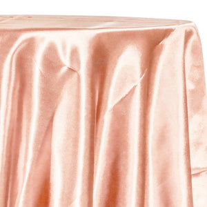 Bridal Satin Table Linen in Peach 178