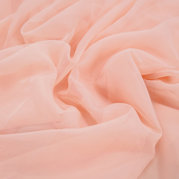 Voile Wholesale Fabric in Peach 4122