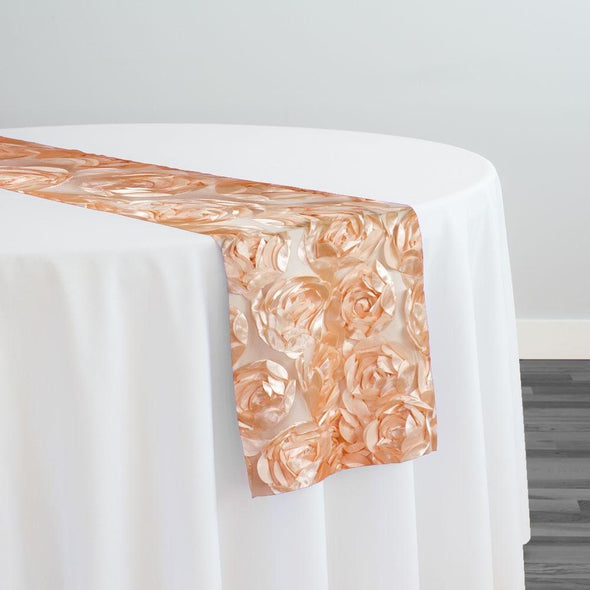Peony Bouquet Table Runner in Peach