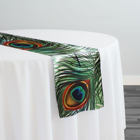 Peacock (Poly Print) Table Runner