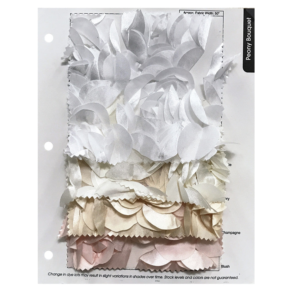 Peony Bouquet Color Card