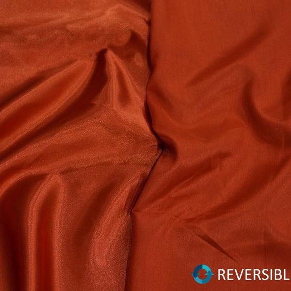 Shantung Satin Table Runner in Persimmon