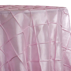 "4"" Pintuck Taffeta Table Linen in Petal Pink"