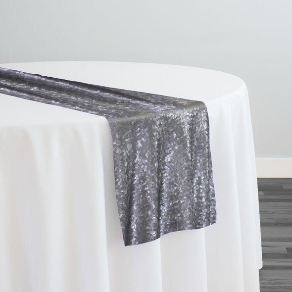 Glitz Sequins Table Runner in Pewter