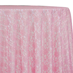 Classic Lace Table Linen in Pink 1156