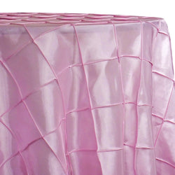 "4"" Pintuck Taffeta Table Linen in Pink 072"