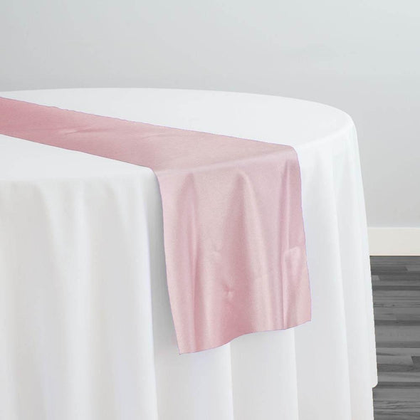 Lamour (Dull) Satin Table Runner in Pink 1157