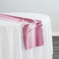 Bridal Satin Table Runner in Pink 156