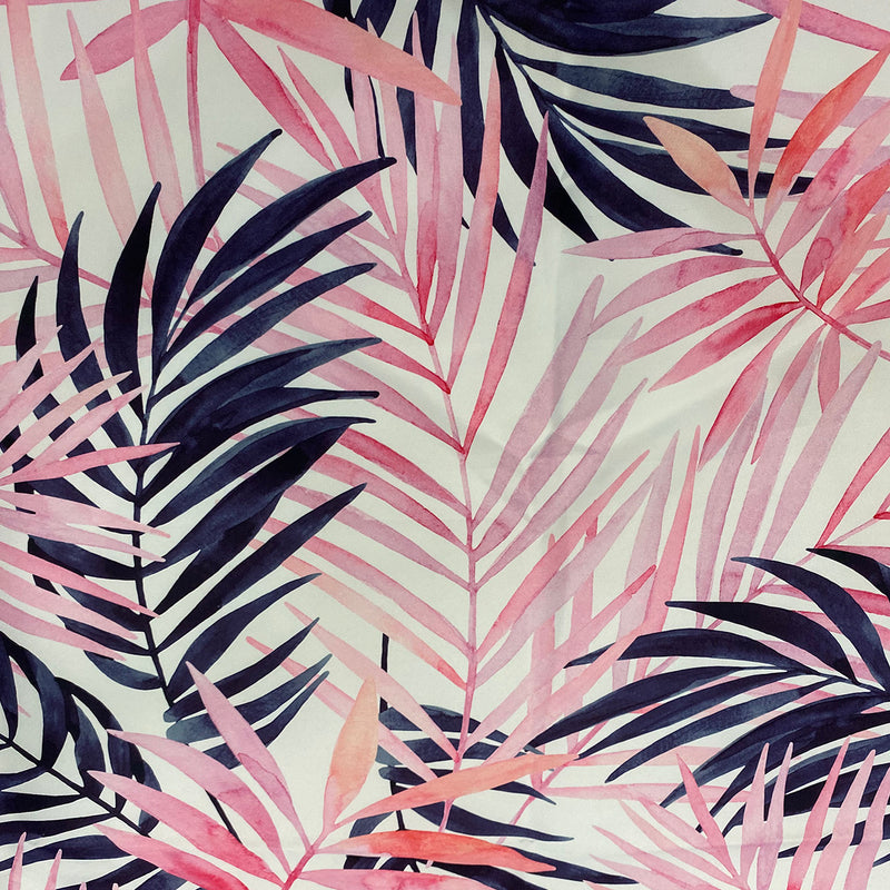 Pink Botanical (Poly Print) Wholesale Fabric