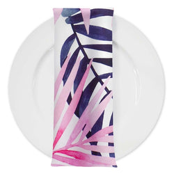 Pink Botanical (Poly Print) Table Napkin