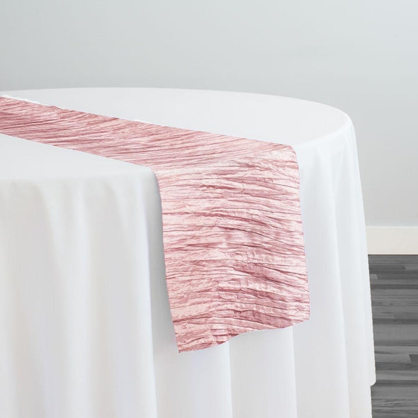 Accordion Taffeta Table Runner in Pink Petal
