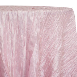 Accordion Taffeta Table Linen in Pink Petal