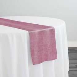 Imitation Burlap (100% Polyester) Table Runner in Pink