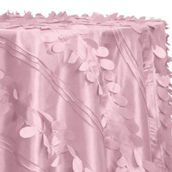 Diagonal Taffeta Table Linen in Pink Petal