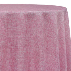 Imitation Burlap (100% Polyester) Table Linen in Pink