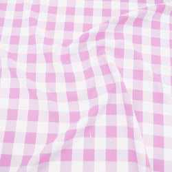 Polyester Checker (Gingham) Table Linen in Pink