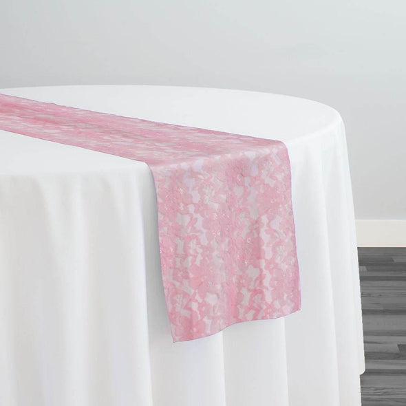 Classic Lace Table Runner in Pink 1156
