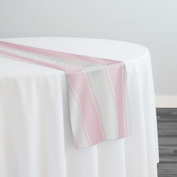 Cabana Stripe Table Runner in Pink