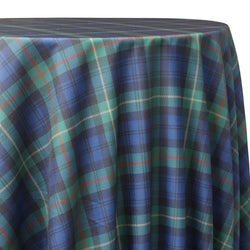 Plaid Poly Print Table Linen in Green