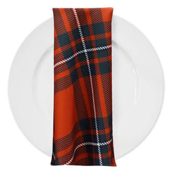 Plaid (Poly Print) Table Napkin in Red and White