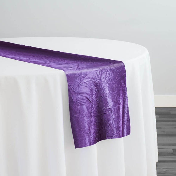 Crush Satin (Bichon) Table Runner in Plum 555