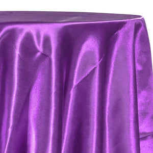 Bridal Satin Table Linen in Plum 555