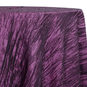 Accordion Taffeta Table Linen in Plum