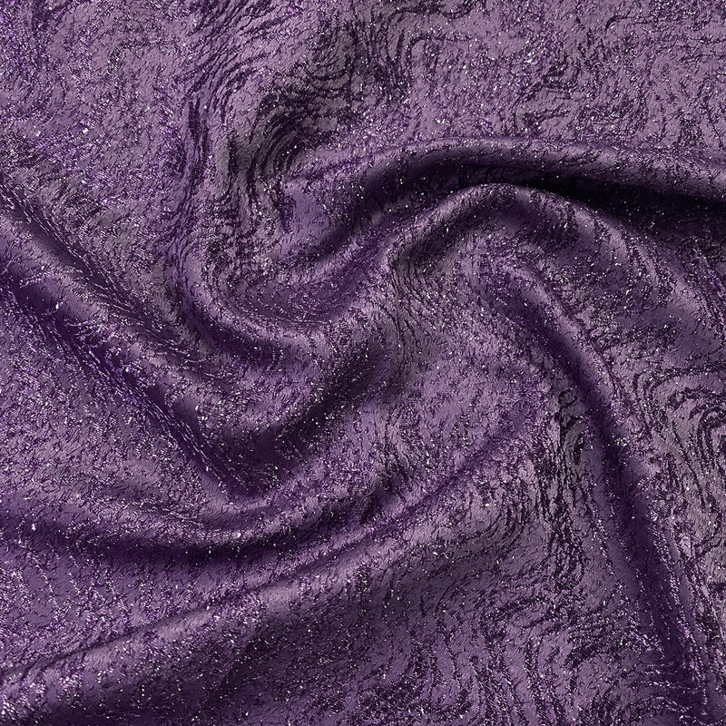 Twinkle Tensil Hair Wholesale Fabric in Plum