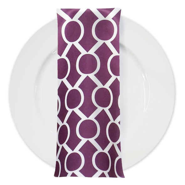 Halo Print Lamour Table Napkin in Plum