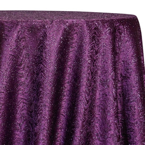 Twinkle Tensil Table Linen in Plum