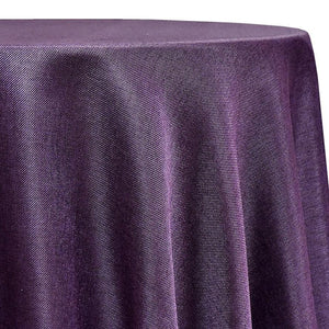 Imitation Burlap (100% Polyester) Table Linen in Plum