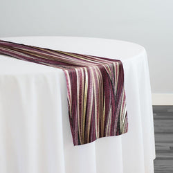 Allure Jacquard Table Runner in Plum