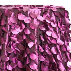 Funzie (Circle Hanging) Taffeta Table Linen in Plum