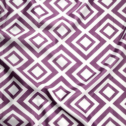 Paragon Print (Lamour) Table Linen in Plum