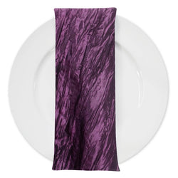 Accordion Taffeta Table Napkin in Plum