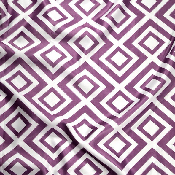 Paragon Print (Lamour) Wholesale Fabric in Plum