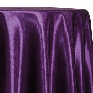 Shantung Satin (Reversible) Table Linen in Plum