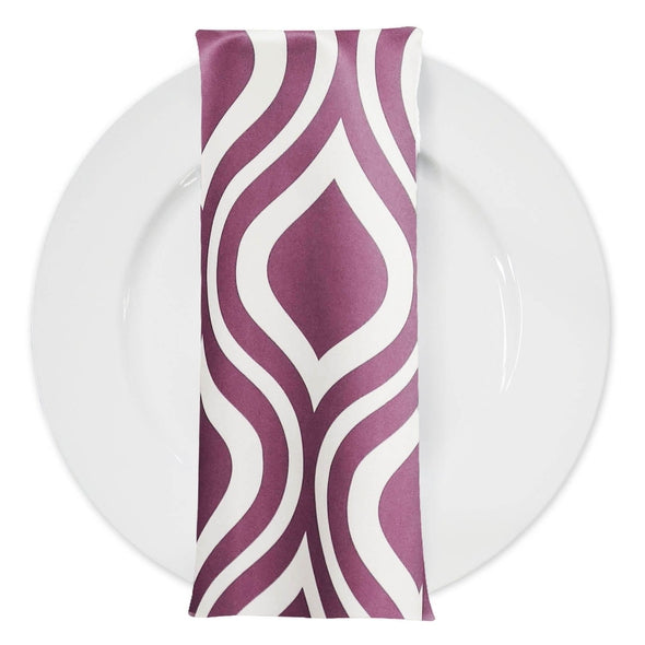 Groovy Print Lamour Table Napkin in Plum