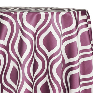 Groovy Print (Lamour) Table Linen in Plum