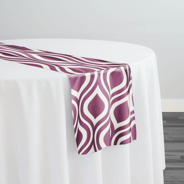 Groovy Print (Lamour) Table Runner in Plum